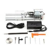 Мини-токарныйстанокдлябисераДеревообработкаRotary DIY Инструмент для шлифовального сверления