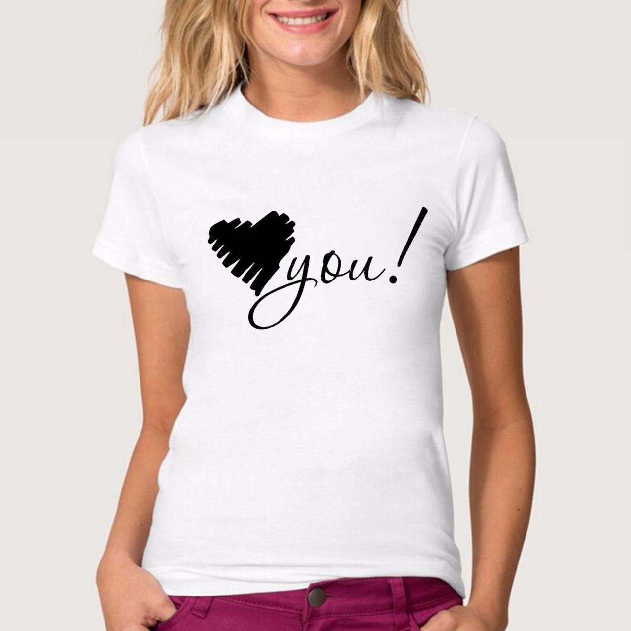Футболка женская Love you