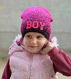 Весенняя модная шапка для девочки , фото 2