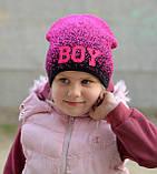 Весенняя модная шапка для девочки , фото 7