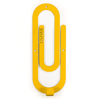 Настенный крючок для одежды Glozis Clip Yellow, фото 1