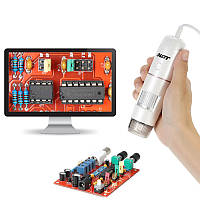 5X-200X 8LED USB цифровой скальп Волосы Микроскоп детектор кожи с базой