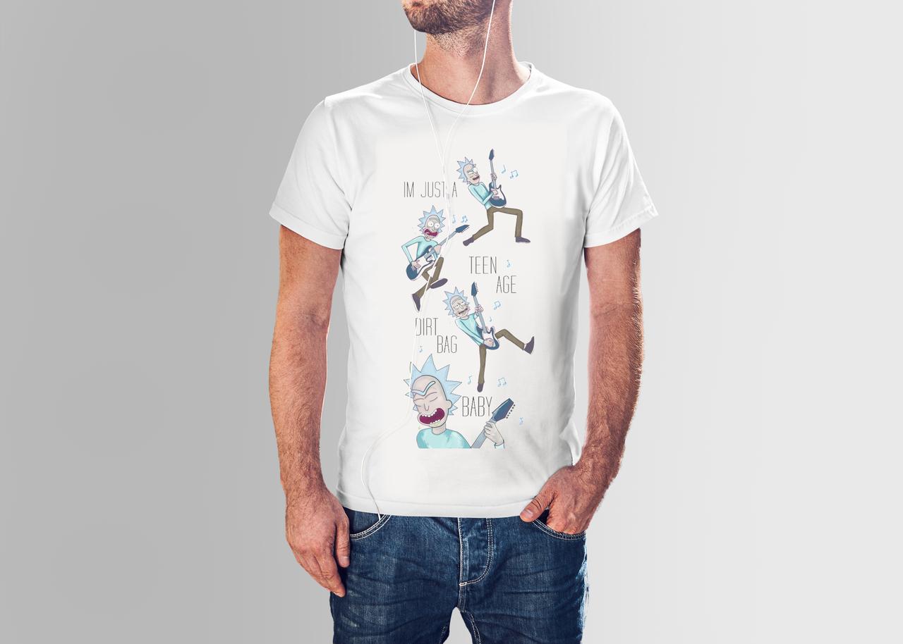 Футболка мужская  Рик Чоловіча футболка з принтом Рік і Морті