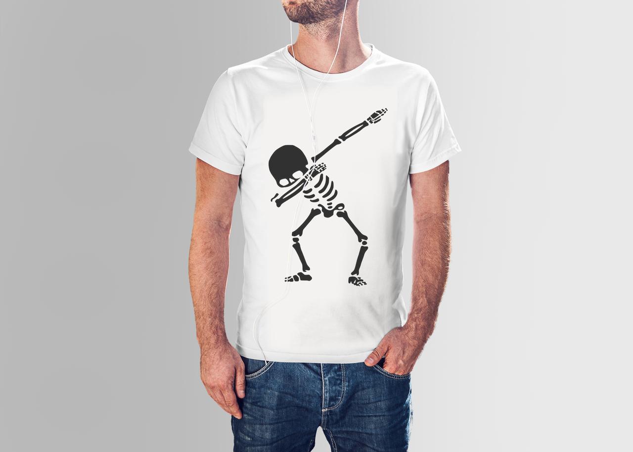 Футболка мужская скелет