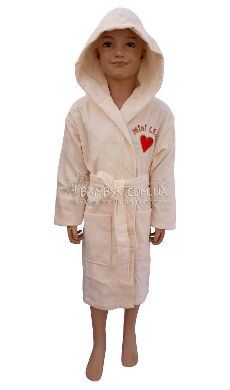 """Детский махровый халат для девочки (100%-хлопок) Piramit """"Minni Lady"""""""