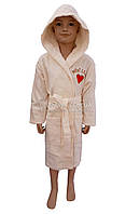 """Детский махровый халат для девочки (100%-хлопок) Piramit """"Minni Lady"""", фото 1"""