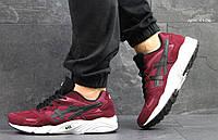 Кроссовки мужские Asics Gel Lyte кроссовки бордовые-Замша,подошва пена,размеры:41-45 Вьетнам, фото 1