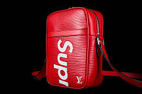 Сумка Louis Vuitton Supreme кросс-боди красная, фото 1