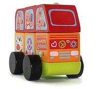 Автобус деревянный веселые звери LM-10 (13197)