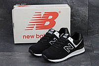Мужские  кроссовки  New Balance 574 нью беланс кроссовки -черные -Замша,подошва пена,р:41-46 Вьетнам