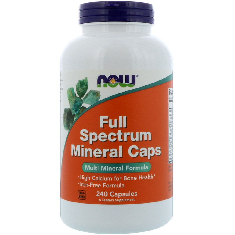 Минералы NOW Full Spectrum Minerals Caps 240 caps