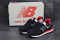 Мужские  кроссовки  New Balance 574 нью беланс кроссовки темно-синие -Замша,подошва пена,р:41-46 Вьетнам
