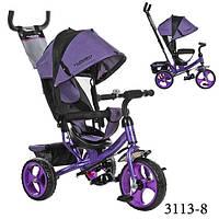 Turbo trike 3113 трёхколёсный велосипед детский фиолетовый колёса пена