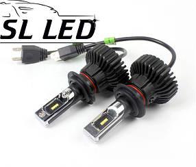 LED лампы в головной свет серии SX5 Цоколь H7, 25W, 3000 Люмен/Комплект