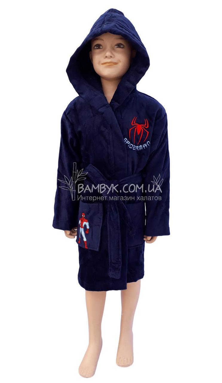 """Детский махровый халат для мальчика (100%-хлопок) Piramit """"Spiderman"""""""