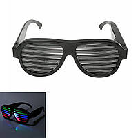 Sound Control LED Мигает Очки Очки для вечеринки Модные солнцезащитные очки Очки