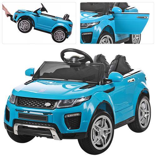 Детский электромобиль  Land Rover Style M 3213 EBLR-4: 2.4G. EVA-колеса, Кожа - СИНИЙ - купить оптом