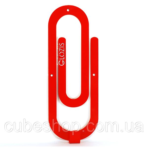 Настенный крючок для одежды Glozis Clip Red