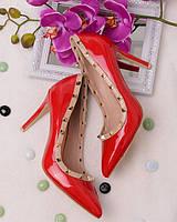 Лаковые туфли с заклепками обувь для женщин 15801 модные олламода