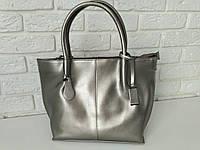 """Женская кожаная сумка """"Полина 2 Silver"""""""