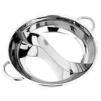 38смТолстаянержавеющаястальГорячий горшок с двумя ароматами Индукционная кухонная кухонная посуда