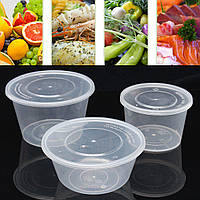 50шт.Прозрачныйпластиковыйделикатесныйсуп для яиц.Контейнеры для хранения контейнеров 600/750/1000 мл.
