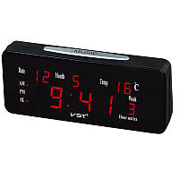 12/24 часов Громкий двойной сигнал тревоги Часы Автоматическая легкость с большими буквами Электронная температура Дисплей Рабочий стол Ча