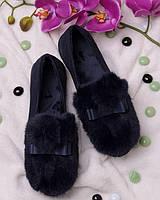 Слипоны, декорированные мехом обувь для женщин 16181 удобные олламода