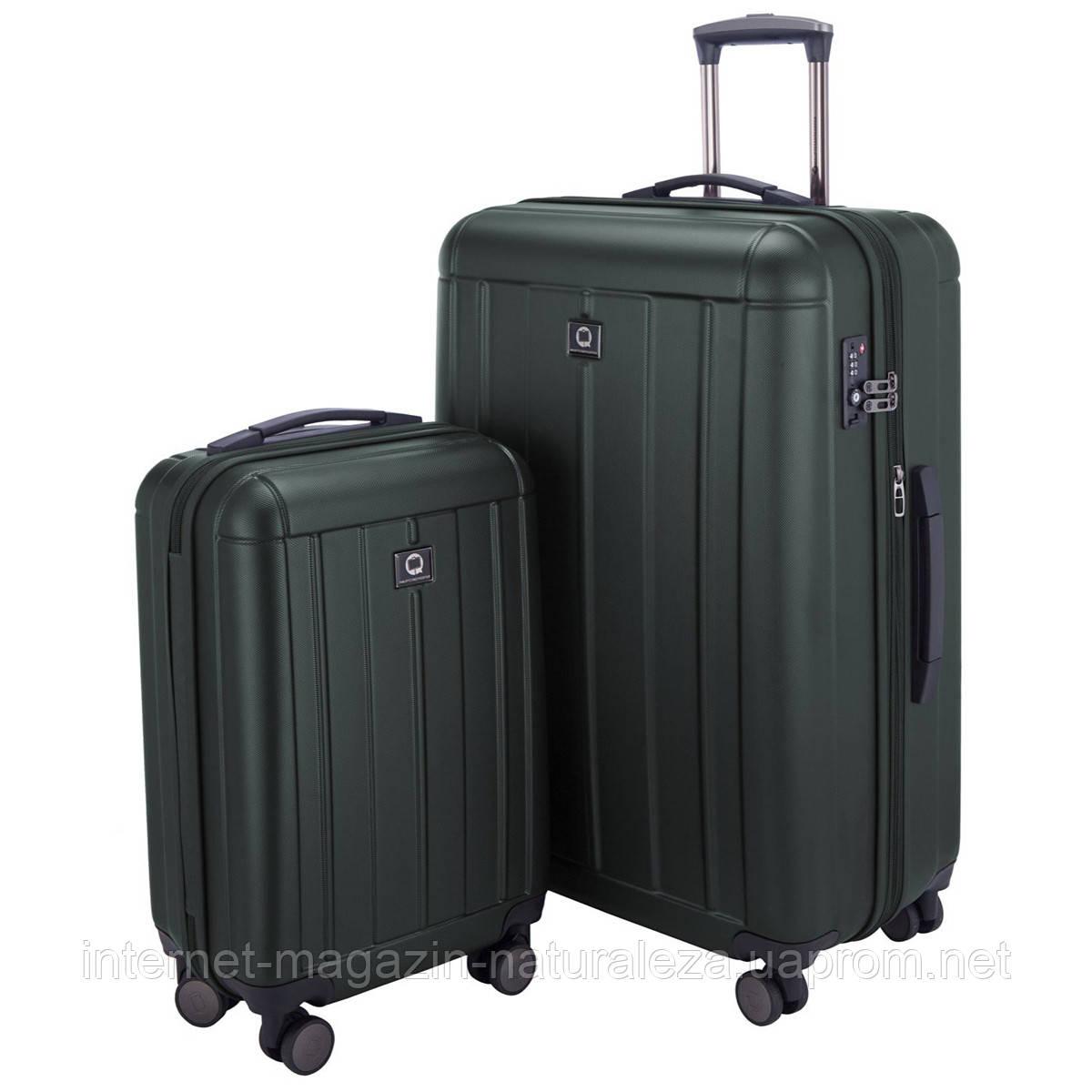 Набор чемоданов Hauptstadtkoffer Kotti темно-зеленый матовый