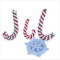 YANI Christmas Pet Собака Chew Toy Cotton Веревка Ball Puppy Собака Зубной Уход за зубами Уход за обувью Инструмент