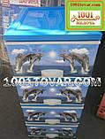 """Комод пластиковий, з малюнком """"Дельфіни"""", 4 ящики, фото 2"""