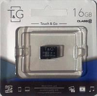 Микро карта памяти SDHC T&G 16GB class 10 (без адаптера), фото 1