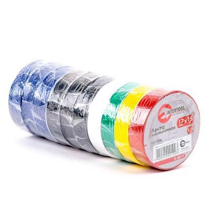 Лента изоляционная 0.15mm*17mm*15m цветная IT-0019 Intertool, фото 2