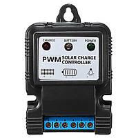 2 штук 6V/12V 5A/10A Солнечная Контроллер PWM Регулятор заряда с интеллектуальным индикатором LED