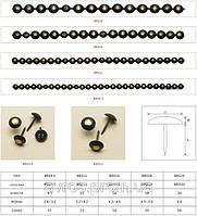 Декоративные гвозди для мебели молдинг 9,5 бронза
