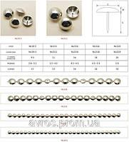 Декоративные гвозди в полосах по 1000м.п., ø9,5 мм