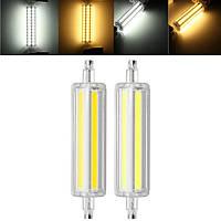 R7S 12W COB Да/Нет Dimmable 1150LM Чистый белый Теплый белый LED Кукурузовая лампа AC85-265V