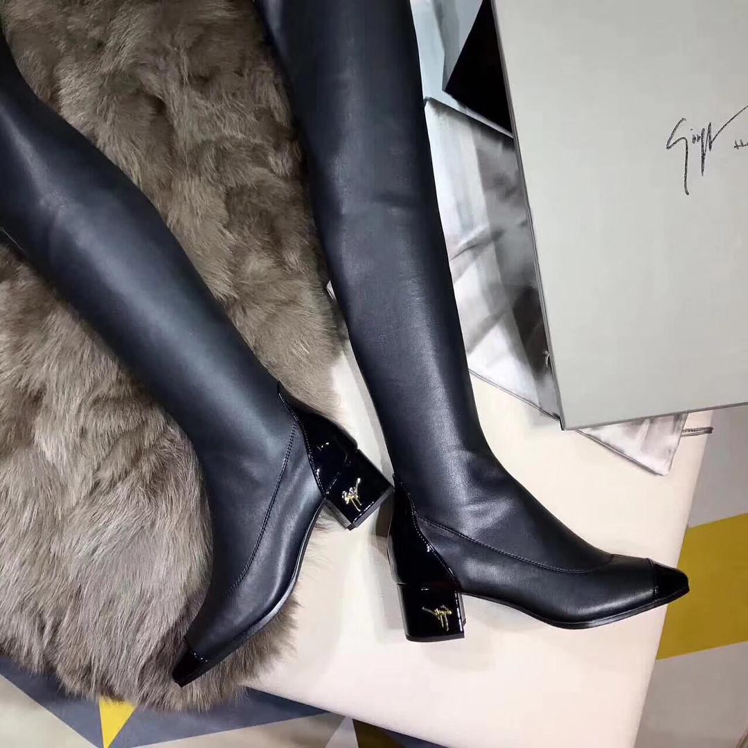 d1fed1c26 Кожаные ботфорты на низком каблуке Giuseppe Zanotti - Люкс реплики  брендовых сумок, обуви в Киеве