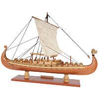 DrakkarДраконVikingSailboatAssemblyМодель Набор Лазер Процесс резания DIY Игрушка