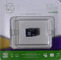 Карта памяти микро SDHC, 32Gb, Class10, T&G, без адаптера (TG-32GBSDCL10-00)
