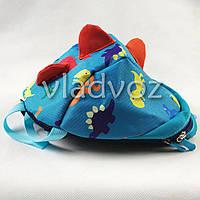 Детский рюкзак для дошкольника динозврик голубой