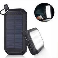 21 LED 8000mAh Portable Солнечная Powered Кемпинг Light 3 USB Мобильный повер банк для iPhone ipad Android