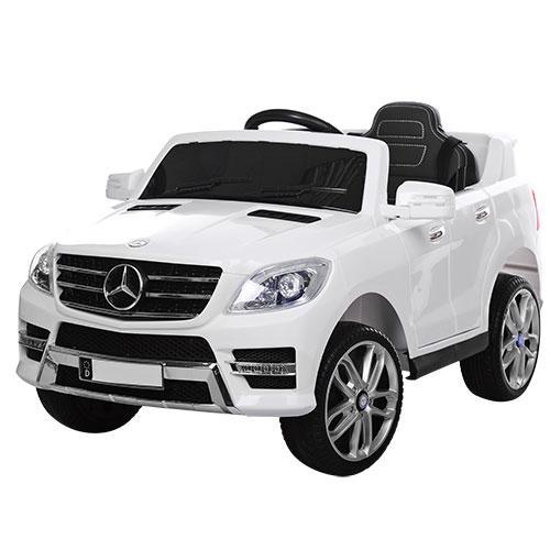 Детский электромобиль M 3568 EBLR-1 (Mercedes ML 350): 70W, 6 км/ч, EVA, кожа - БЕЛЫЙ - купить оптом