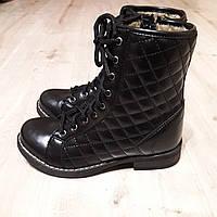 Ботинки подростковые демисезонные р 30, 35 черные для девочек Турция