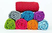 Йога полотенце (коврик для йоги) FI-4938-6 (р-р 1,83м x 0,63м, микрофибра+силикон, бордо)