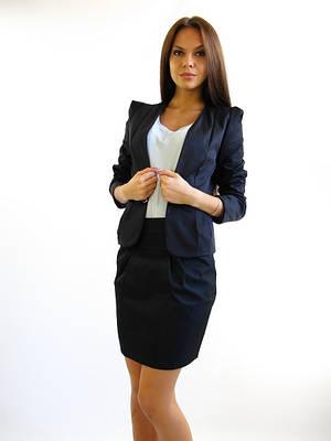Стильный молодёжный пиджак.  Тайра чёрная.
