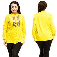 Рубашка женская большие размеры (цвета) АНД5046, фото 1