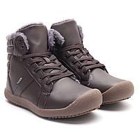 Мужская зимняя теплая снежная ботинок Водонепроницаемы PU High Top Lace Up Comfy Тапки Обувь