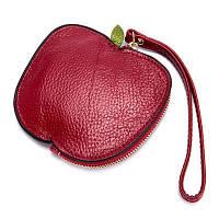 Монетница из натуральной кожи Perfette Apple, красная