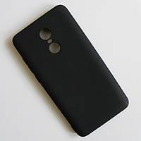 Матовый чёрный чехол для Xiaomi Redmi Note 4x